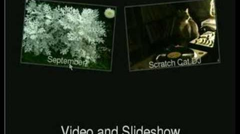 Todisc sldieshow and video menu