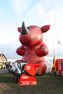 Red Rhino mascot at Lamma 2012 - IMG 3544