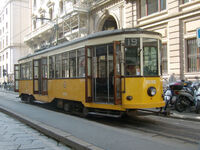 Milano tram via Cantù