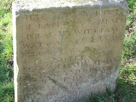 Grave marker of an early villager, New Lanark