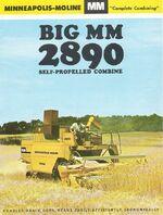 MM 2890 combine brochure - 1965