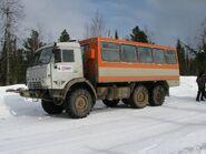 KamAZ-44108-based off-road bus in Krasnoyarsk Krai