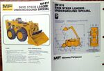 MF 811 Underground skid-steer brochure - 1975