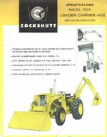 Cockshutt 1600 backhoe ad