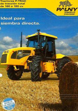 Zanello Pauny P-Trac 160 & 180 4WD brochure