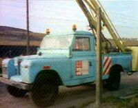 HY-MAC CHERRY PICKER ON LANDROVER