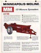 MM LO-100 manure spreader brochure - 1966