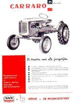 Carraro 23 b&w ad - 1961