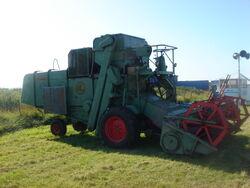 Claas Matador combine at Cumbria 09 - DSC02185