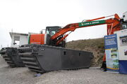 Hitachi LGP excavator of Land and Water at Hillhead 2010 - IMG 1701