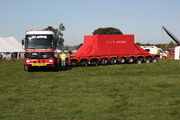 Ballast tractor pulling 150 ton Modular trailer by drawbar - IMG 2187
