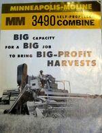 MM 3490 combine b&w brochure - 1963
