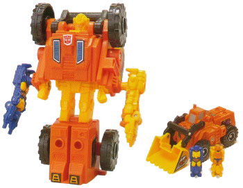 Scoop with Caliburst and Holepunch - Transformers Toys - TFW2005
