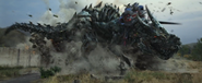 Optimus Riding Grimlock