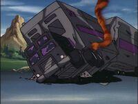 G1 cartoon Motormaster slagged