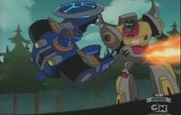 Animated cartoon Grimlock Sentinel Prime