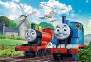 Thomas,JamesandHaroldattheWindmillDrawingPromo