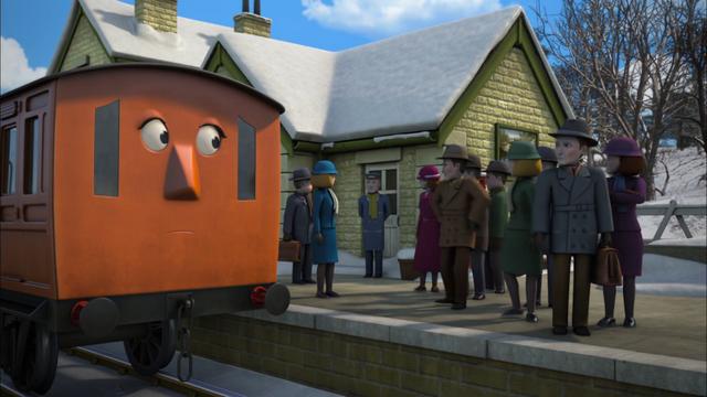 TV版第20シーズンのノース・ウェスタン鉄道の乗客