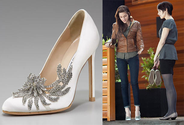 manolo blahnik swan shoes price