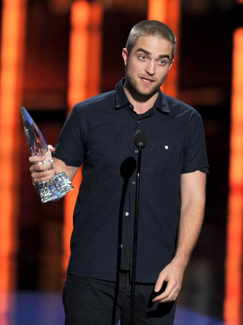Robert accepting his award