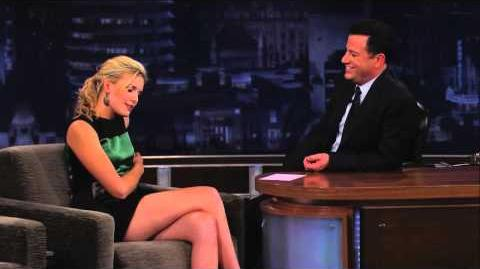Maggie Grace on Jimmy Kimmel Live PART 2