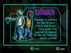 Twisted Metal - Small Brawl - Thumper bio