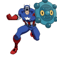 Bronzor and Captain America