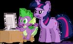 Spike and twilight sparkle by rinoaleonmac-d3riafw-1-