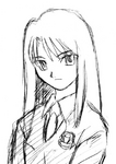 Kokutou azaka early sketch