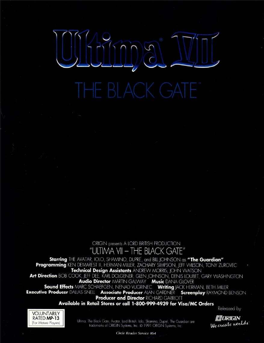 Black Gate Articles New Treasures The Best Of Amazing: Ultima VII: The Black Gate
