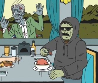 Randall and mindless zombie