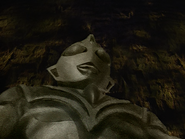 Evil Tiga's first apperance as statue