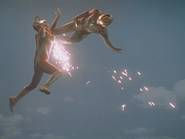 False Ultraman Dyna Miracle Multi Air-Kick