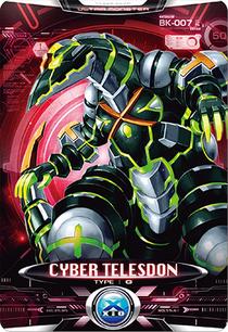 Ultraman X Cyber Telesdon Card