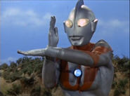 Ultraman in his Specium Ray stance