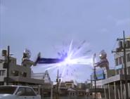 Zepellion Ray vs Evil Shot