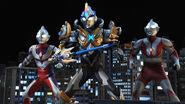 Ultraman, Tiga & X Exceed