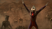 Ultraman Tiga ready to fire Zepellion
