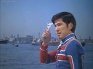 Kotaro gives the Ultra Badge back