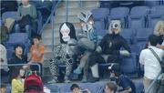 Baltan, Dada and Magma watching the Baseball