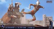 Ultraman Jack vs Zetton Alien Bat