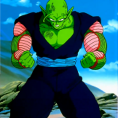 Piccolo preparing to face off against Android 17