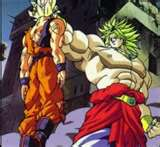 Broly Against Goku