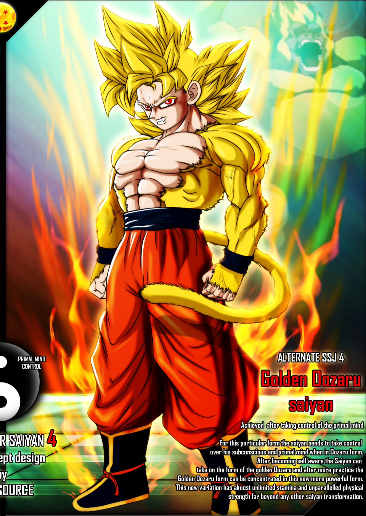 Golden Oozaru Saiyan | Ultra Dragon Ball Wiki | FANDOM powered by ...