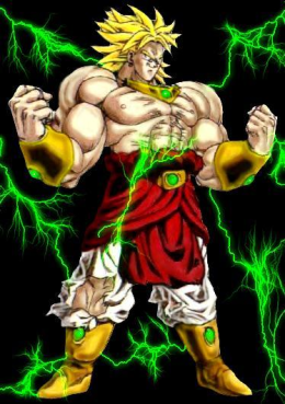 Broly lssj with lightning by ryugassj3-d41fww8