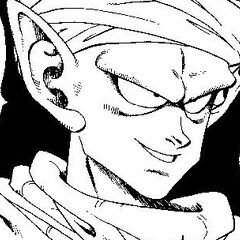 Piccolo Gloating during his fight.