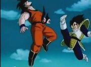 Vegeta Arial Kick Goku