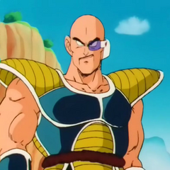 Nappa, as he appears on Planet Earth with Vegeta.