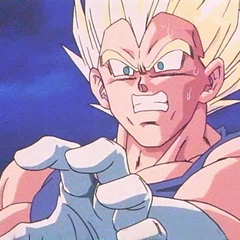 SS Vegeta shocked during the fight with Super Buu.