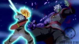 Trunks kill Zamasu Shining Finger Sword style!!